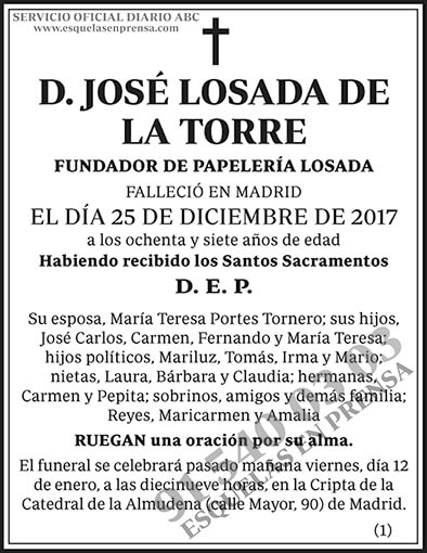 José Losada de la Torre